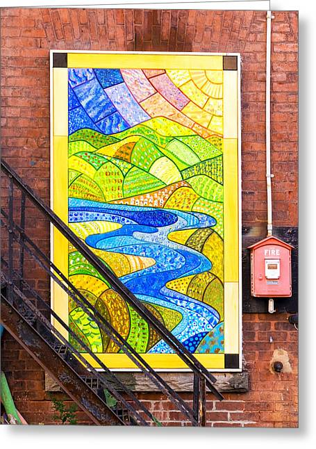 Art And The Fire Escape Greeting Card