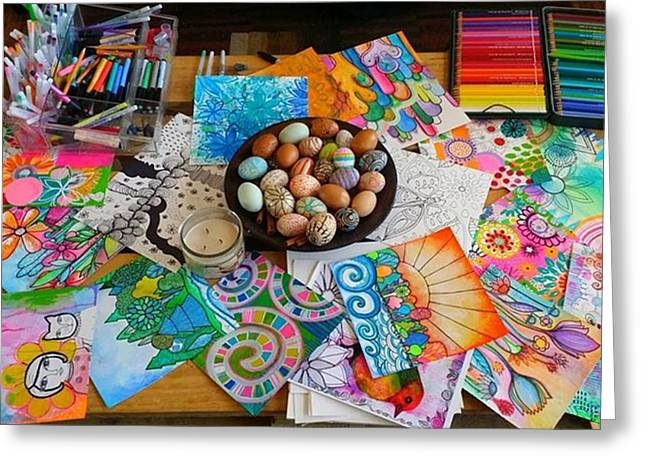 #art #artsupplies And #fresheggs..ready Greeting Card