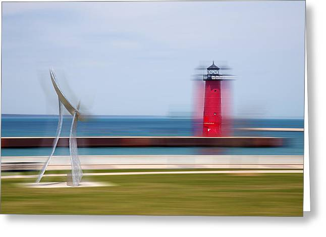 Art By The Lake Shore Greeting Card