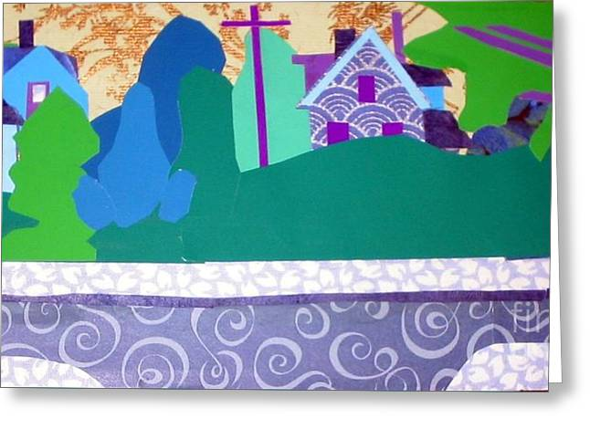 Art Colony Greeting Card by Debra Bretton Robinson