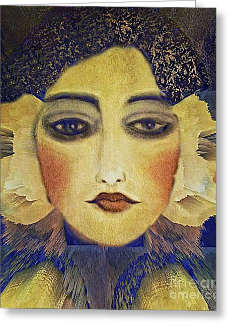 Art Deco  Beauty Greeting Card by Alexis Rotella