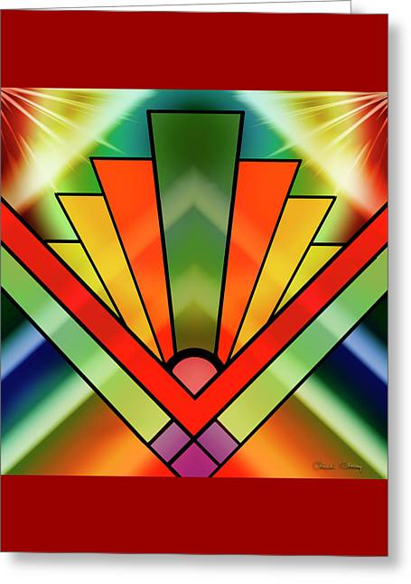 Art Deco Pattern 11 - Chuck Staley Greeting Card by Chuck Staley