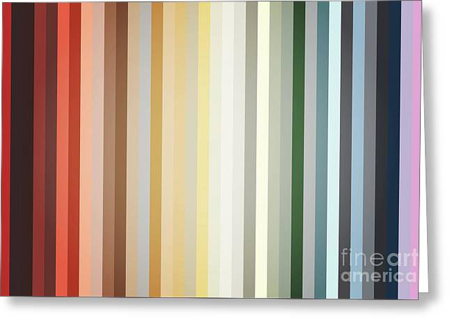 Art Deco Color Palette Of 1940 Greeting Card by Radu Bercan