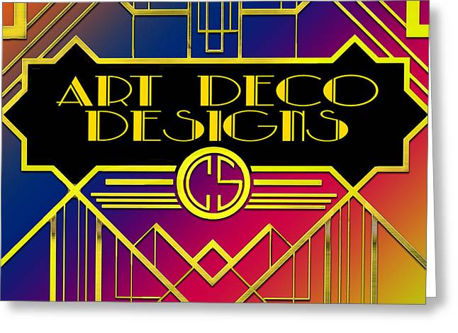 Greeting Card featuring the digital art Art Deco Designs by Chuck Staley