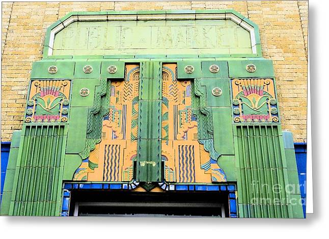 Art Deco Facade At Old Public Market Greeting Card