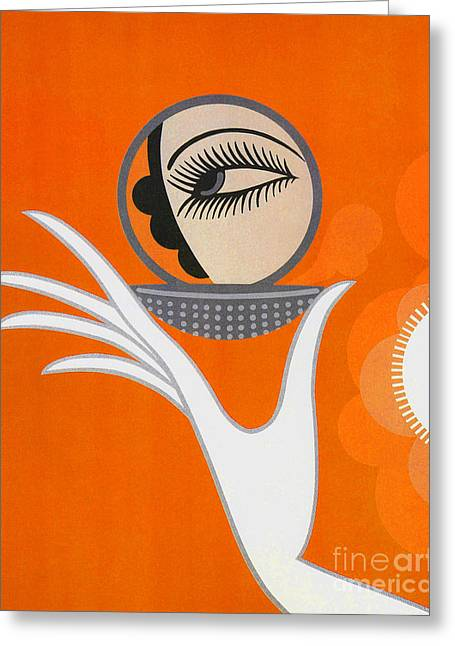Art Deco Fashion Illustration Greeting Card by Tina Lavoie