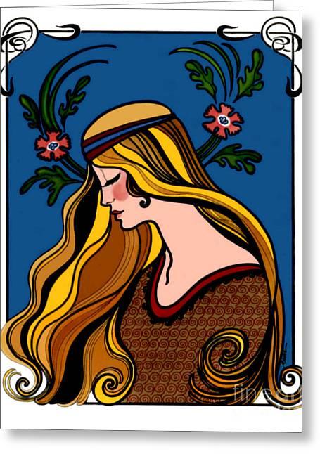 Art Deco Greeting Card Greeting Card by Elinor Mavor