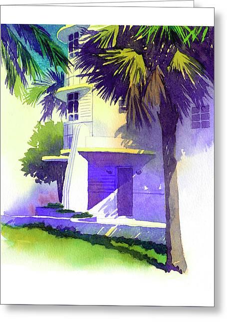 Art Deco Hotel Miami Greeting Card