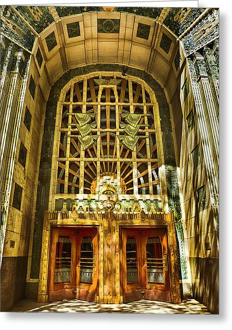 Art Deco Marine Building Greeting Card by Theresa Tahara