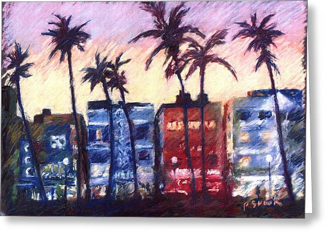 Miami Pastels Greeting Cards - Art Deco Miami Greeting Card by Pat Snook