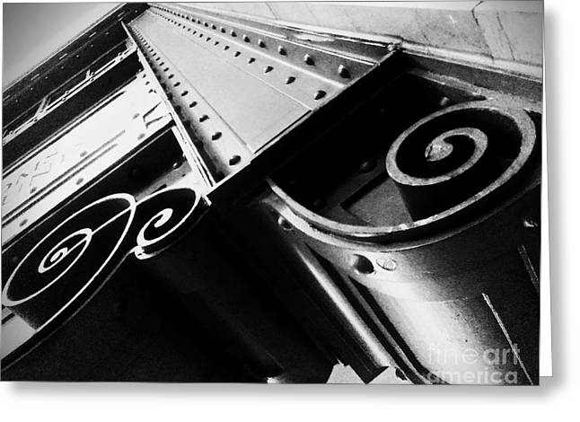 Art Deco Steel Greeting Card by James Aiken