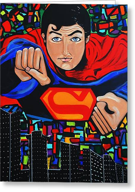 Art Deco  Superman Greeting Card