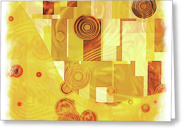 Art Deco Yellow Greeting Card by Lutz Baar