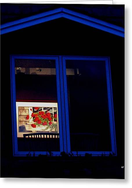 Art Gallery At Night Greeting Card by Will Borden