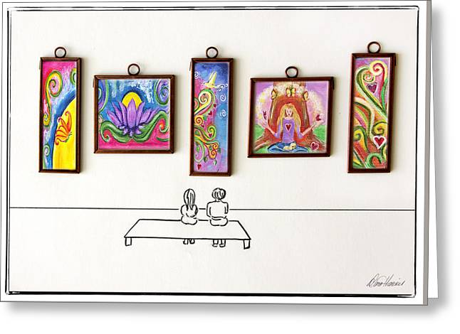 Art Gallery  Greeting Card by Diana Haronis