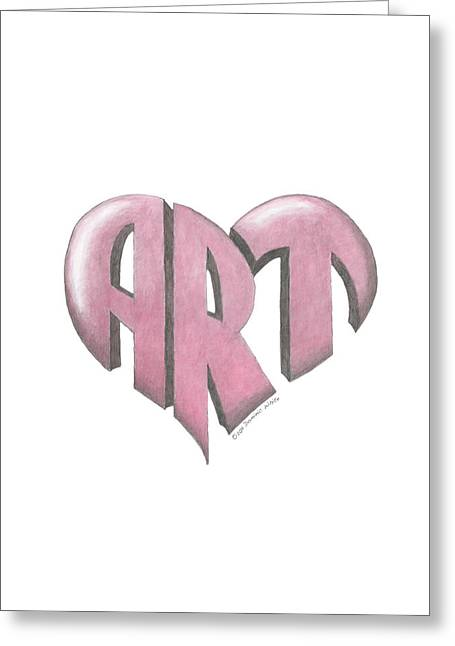 Art Heart Greeting Card by Dominic White