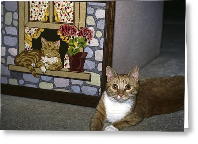 Greeting Card featuring the photograph Art Imitates Life by Sally Weigand