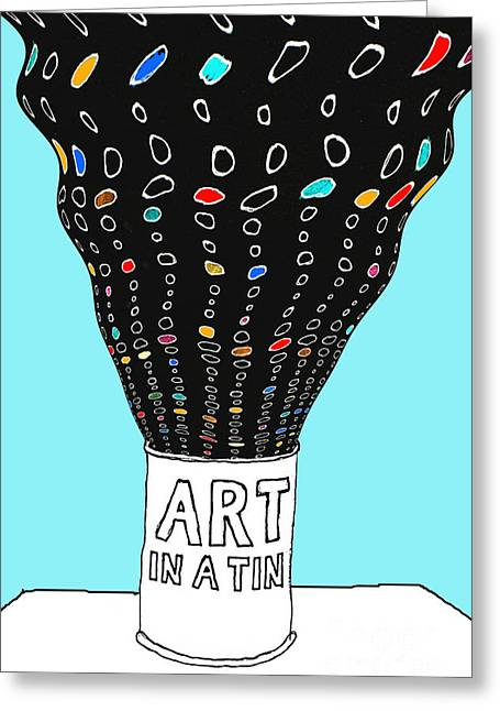 Art In A Tin Greeting Card by Andy  Mercer