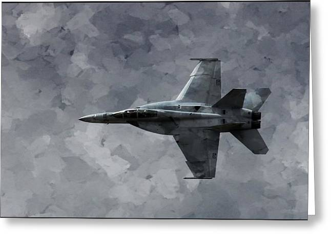 Greeting Card featuring the photograph Art In Flight F-18 Fighter by Aaron Lee Berg