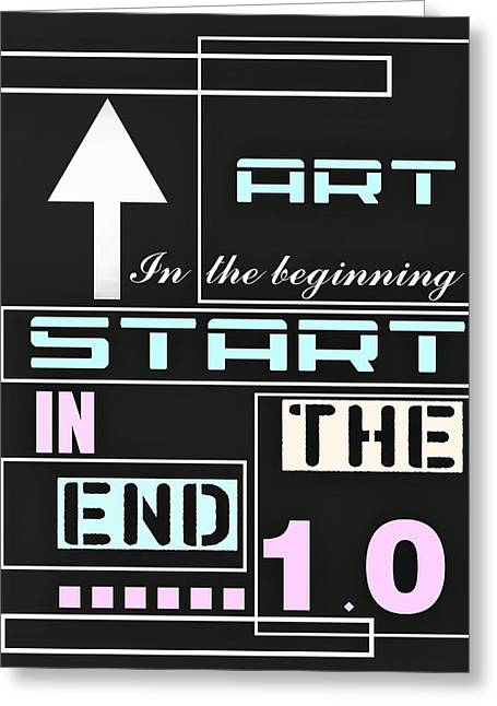 Art In The Beginning Greeting Card