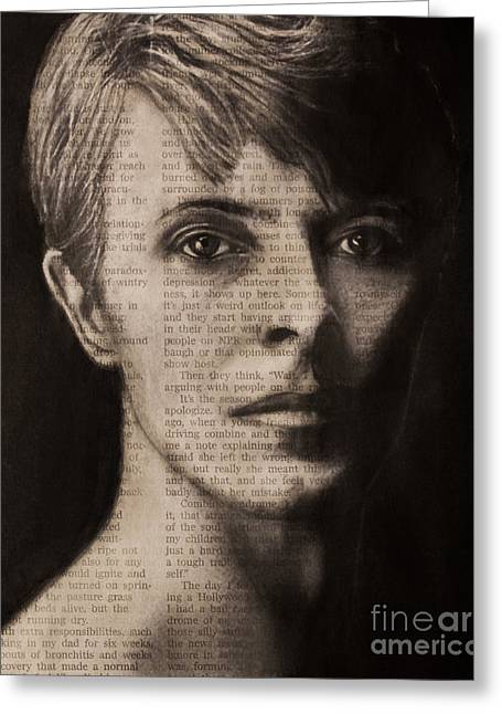 Art In The News 78-bowie Greeting Card
