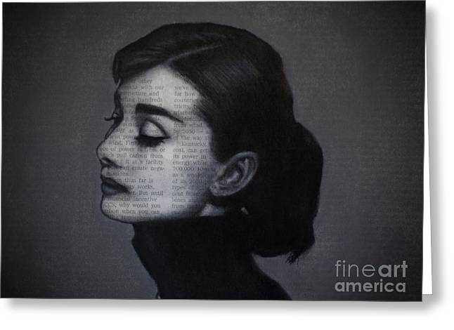 Art In The News 98-audrey Hepburn Greeting Card