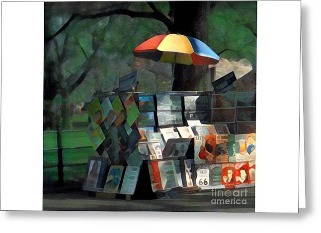 Art In The Park - Central Park New York Greeting Card