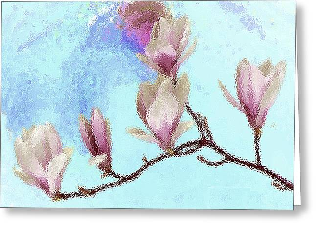 Art Magnolia Greeting Card