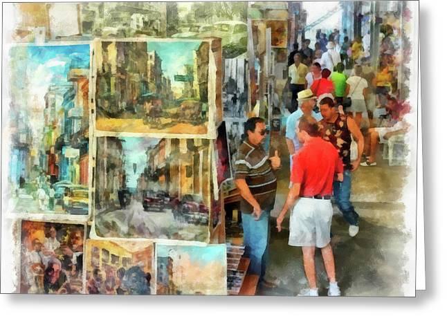Art Market Greeting Card