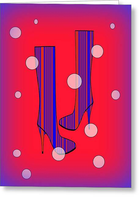 Art Meets Fashion Greeting Card by Kathleen Sartoris