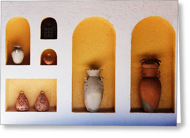 Architectural Design Greeting Cards - Art Niches with Pottery Greeting Card by Jeremy Woodhouse