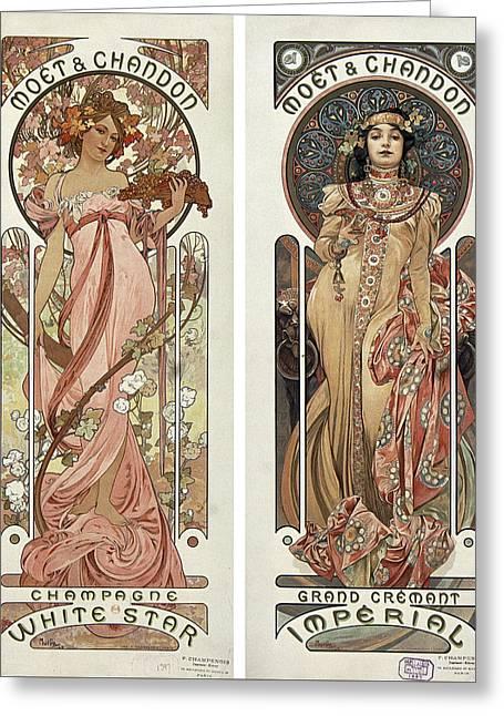 Art Nouveau Greeting Card by Hans Wolfgang Muller Leg
