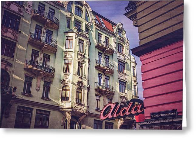 Art Nouveau In Vienna  Greeting Card by Carol Japp