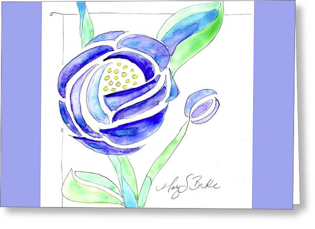 Art Nouveau Roses II Greeting Card