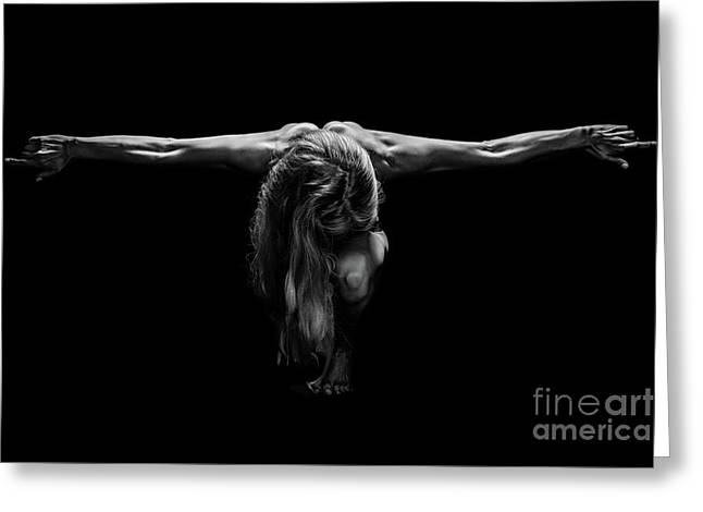 Art Of A Woman Body Builder Greeting Card by Jt PhotoDesign