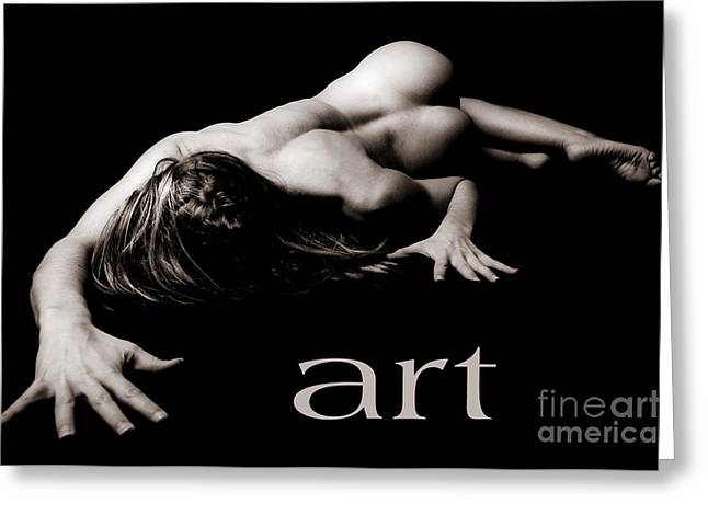 Art Of A Woman Greeting Card by Jt PhotoDesign