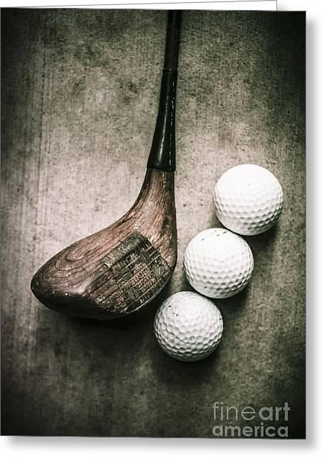 Art Of Golfing Greeting Card