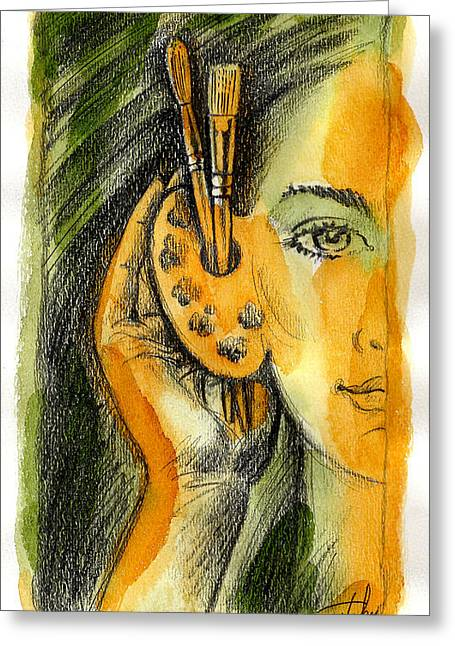 Art Of Listening Greeting Card by Leon Zernitsky