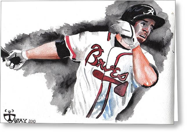 Art Of The Braves Greeting Card by Torben Gray