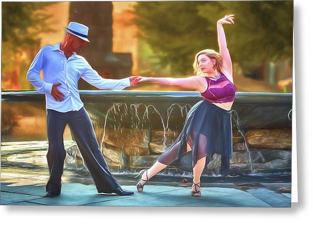 Art Of The Dance Greeting Card by John Haldane