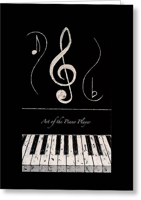 Art Of The Piano Player Greeting Card