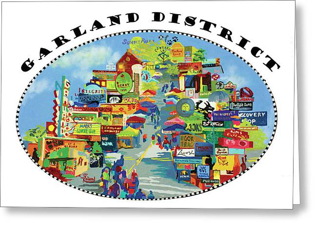 Garland District In Color Greeting Card