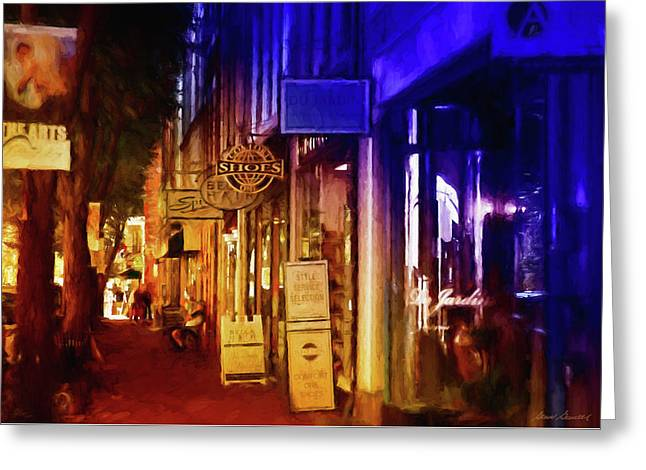 Art Row - Fredericksburg, Virginia Greeting Card by Glenn Gemmell