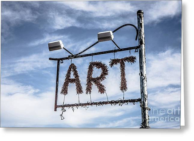 Art Sign Greeting Card
