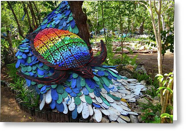 Art With Recycling - Turtle Greeting Card by Exploramum Exploramum