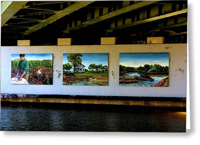 Art Work On The Erie Canal Greeting Card by Richard Jenkins