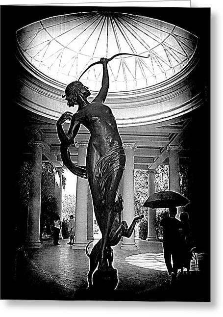 Greeting Card featuring the photograph Artemis At Huntington Library by Lori Seaman