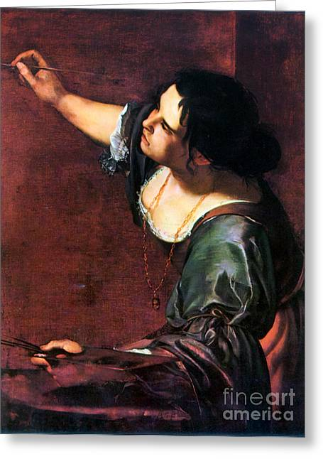 Artemisia Gentileschi Greeting Card by Granger