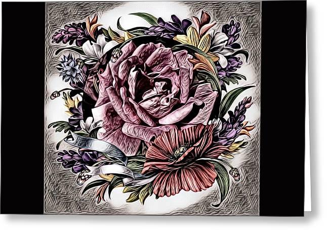 Artful Oasis Digital Art 5 Greeting Card by Artful Oasis