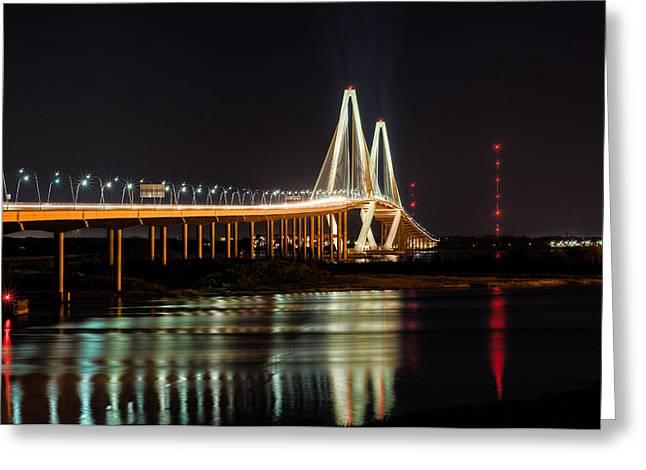 Greeting Card featuring the photograph Arthur Ravenel Bridge by RC Pics